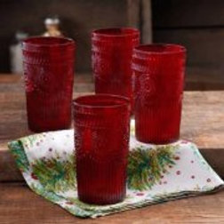 The Pioneer Woman Adeline 16 oz Tumbler, Set of 4