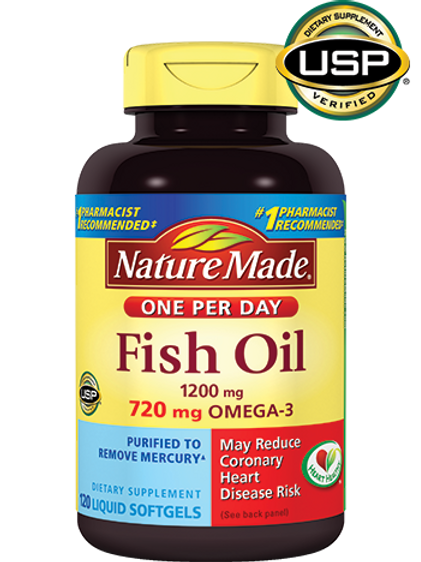 Fish Oil One Per Day Liquid Softgels