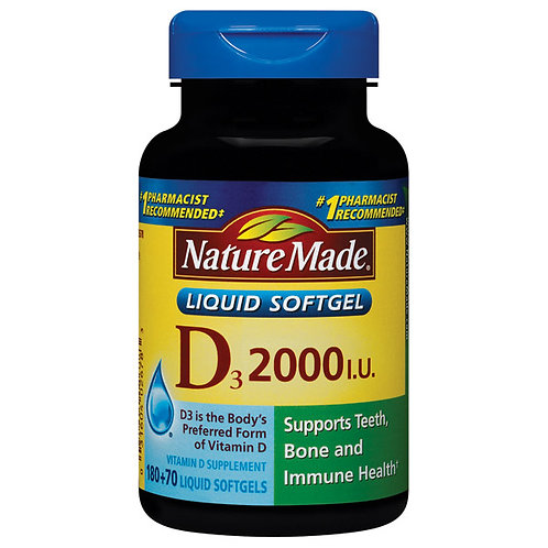 Vitamin D3 2000 IU Liquid Softgels