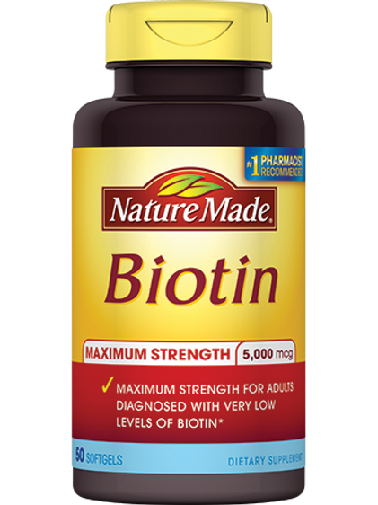 Maximum Strength Biotin 5000 mcg Liquid Softgels