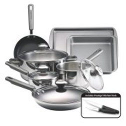 Farberware Complements Dishwasher Safe Stainless Steel 13-Piece Cookware Set