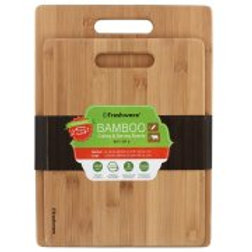 Freshware Bamboo Cutting Boards, 2-Piece
