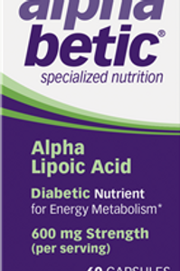 Alpha betic Alpha Lipoic Acid Vitamin Capsulesules, 60 ea