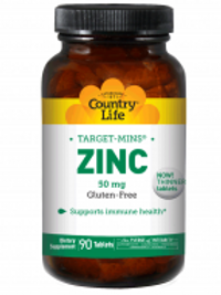 Country-Life,Zinc 50 mg (90-Tablet)
