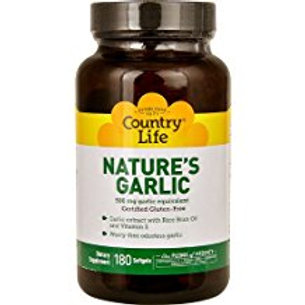 Country-Life,Nature's Garlic (180-Softgels)