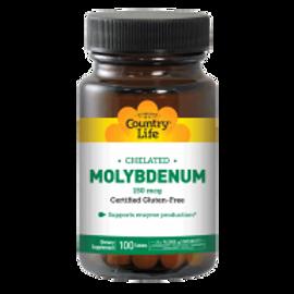 Country-Life,Chelated Molybdenum 150 mcg
