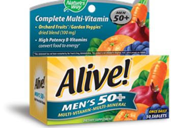 Nature's Way Alive Men's 50 Plus Multivitamin and Mineral Tablets
