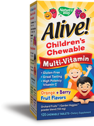 Nature's Way Alive! Children's Chewable Multi-Vitamin, 120 Count