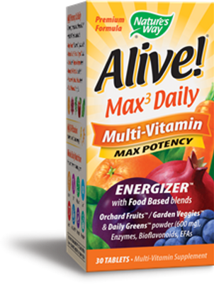 Nature's Way Alive! Max Potency Daily Multivitamin 30-Tablets