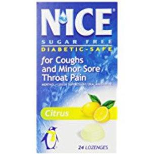 N'ICE Sugar Free Lozenges, Citrus, 24-Count