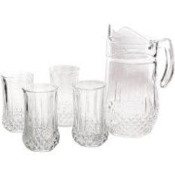 Gibson Home Brunson Glass Pitcher Set, Set of 5