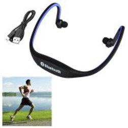 Insten Blue Wireless Bluetooth Sport Ear-Clip Headset Headphone with Mic for App