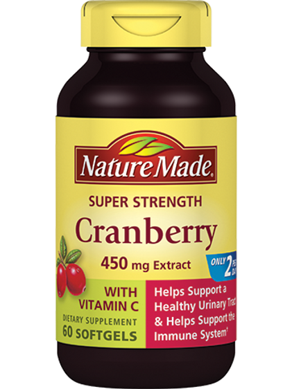 Super Strength Cranberry Plus Vitamin C Liquid Softgels