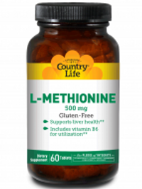 Country-Life, L-METHIONINE 500 MG with Vitamin B-6