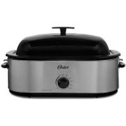 Oster 24-Pound Turkey Roaster Oven, 18-Quart, Highdome Lid, Stainless Steel