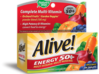 Nature's Way Alive! Energy 50+ without Iron, 60 Count