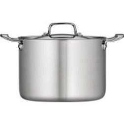 Tramontina 8-Qt Tri-Ply Clad Stock Pot with Lid, Stainless Steel
