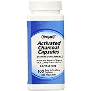 Requa Activated Charcoal, 260 mg, 100 Count  Requa