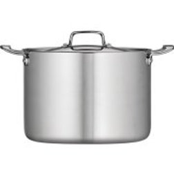 Tramontina 12-Qt Tri-Ply Clad Stock Pot with Lid, Stainless Steel