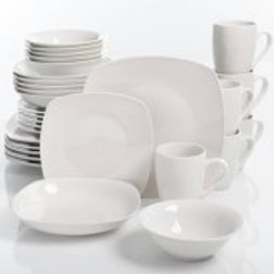 Gibson Home Liberty Hill 30-Piece Dinnerware Set, White