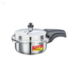 Prestige 2L Alpha Deluxe Induction Base Stainless Steel Pressure Cooker, 2.0-Lit