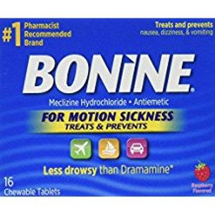 Bonine Motion Sickness Tablets, Raspberry, 16 Count  Bonine