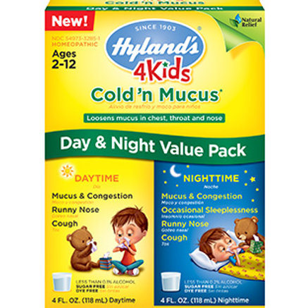 Hyland's 4 Kids Cold 'n Mucus Day & Night Value Pack