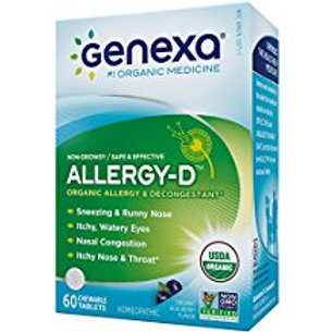 Genexa Homeopathic Allergy Medicine: Certified Organic, Physician Formulated