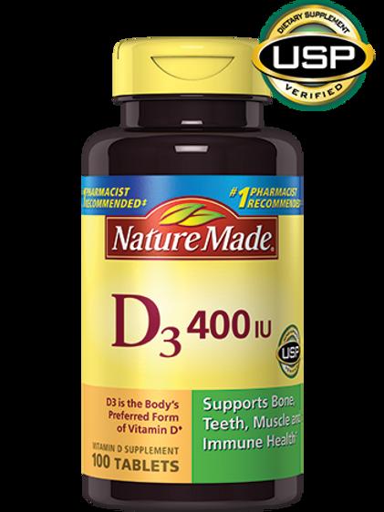 Vitamin D3 400 IU Tablets