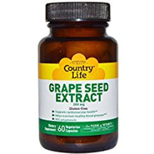 Country-Life, Grape Seed Extract 200 mg (60-vegicaps)