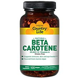 Country-Life, Natural Beta Carotene 25,000 I.U. Units