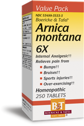 Boericke and Tafel Arnica Montana 6x - 250 Tablets, 250 Count
