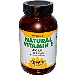 Country-Life, Natural Vitamin E 400 I.U.(180-sofegel)