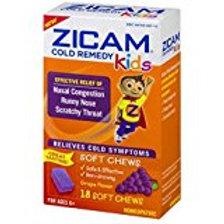 Zicam Cold Remedy Kids Soft Chews Grape Flavor - 18 Ct