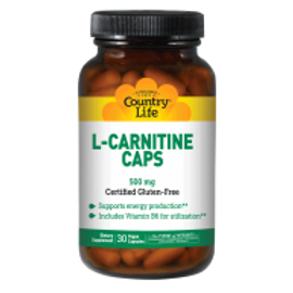 Country-Life,L-CARNITINE CAPS 500 MG with Vitamin B-6