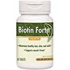 Enzymatic Therapy Biotin Forte Tablets with Zinc, 60 Count