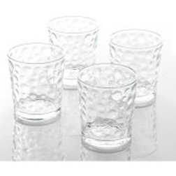 Gibson Home Raeford Embossed Bubble 13-Ounce Glass, Set of 4