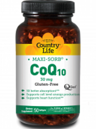 Country-Life,CoEnzyme Q10 Q-Gel – 30 mg (50-Softgels)