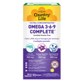 Country-Life,Ultra Omega 3•6•9 (90-Softgel)