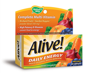 Nature's Way Alive Daily Energy Multi Vitamin, 60 tabs