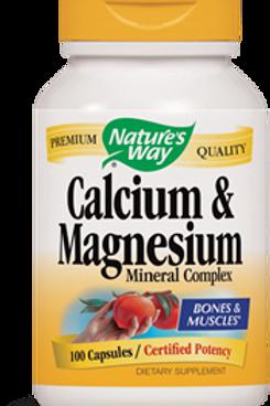 Nature's Way Calcium and Magnesium Mineral Complex, 100 Capsules