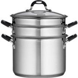 Tramontina 18/10 Stainless Steel 4-Piece 8-Quart Multi-Cooker Set