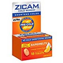 Zicam Ultra Cold Remedy Orange Cream RapidMelts, 18 Quick Dissolve Tablets