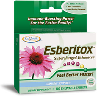 Enzymatic Therapy Esberitox Chewables, 100 Tablets