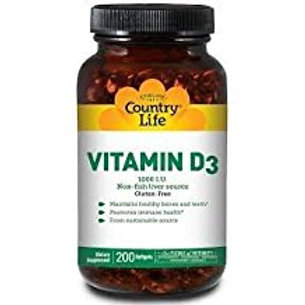 Country-Life,Vitamin D3 1,000 I.U.(200-Softgel)