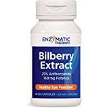 Enzymatic Therapy Bilberry Extract Capsules, 60 Count