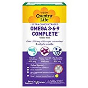 Country-Life,Ultra Omega 3•6•9 (180-Softgel)