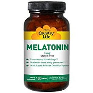 Country-Life,Melatonin 1 mg Rapid Release (120-Tablet)