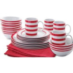 Gibson Home Just Dine Bistro Edge 16-Piece Dinnerware Set