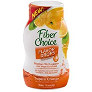 Fiber Choice Nutritional Prebiotic Supplement Tropical Orange Flavor Drops Liqui